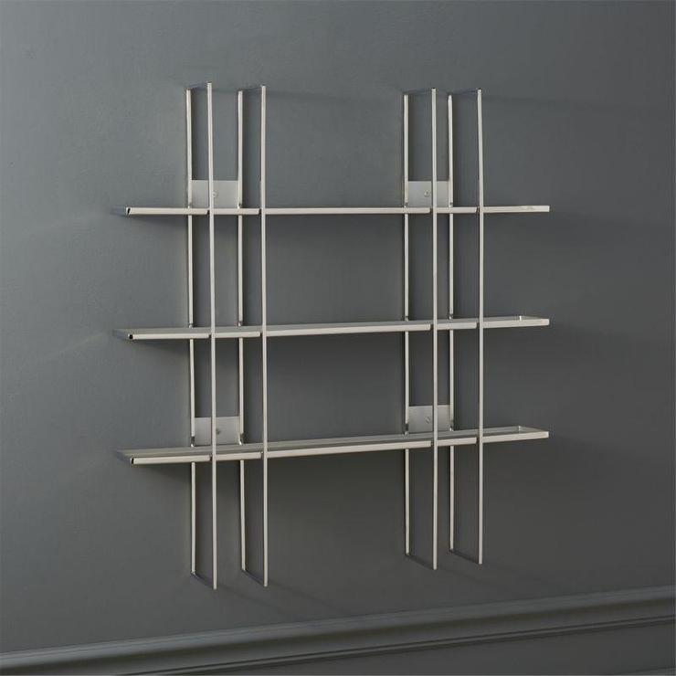 Grid Stainless Steel Wall Shelf