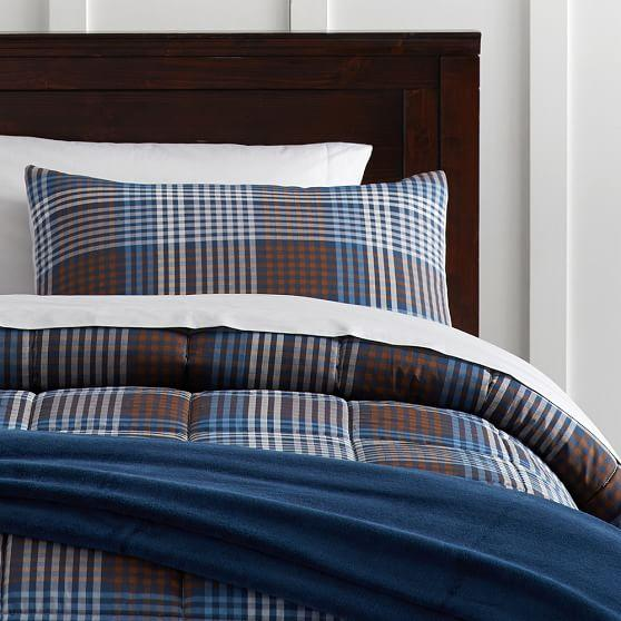 queen s plaid comforter woolrich hadley set multicolor blue ss