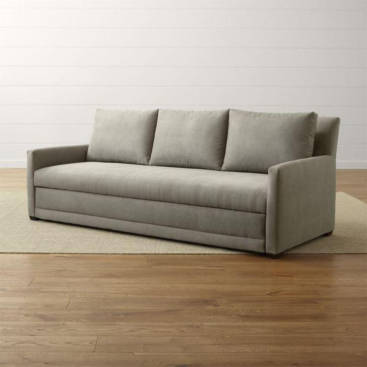 Gray Queen Size Sofa Bed