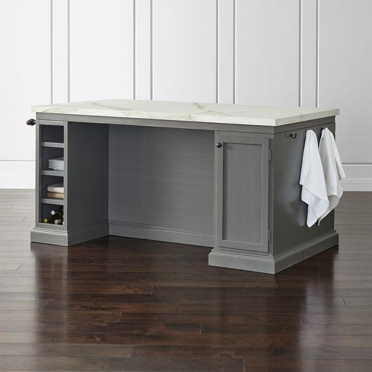 Cameo Large Gray Wood Top Kitchen Island
