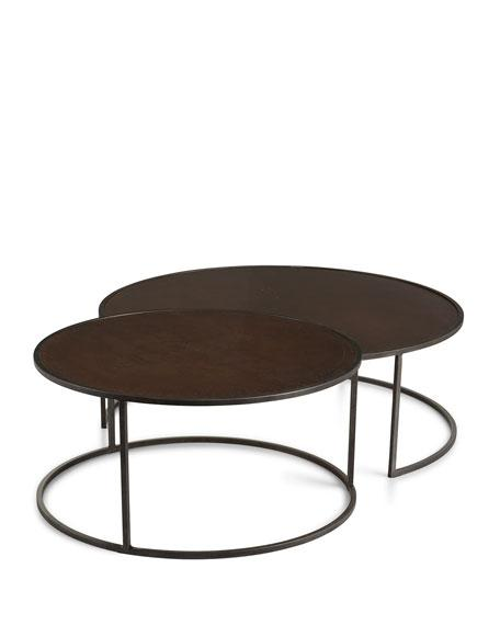 Brown Faux Bamboo X Base Tables