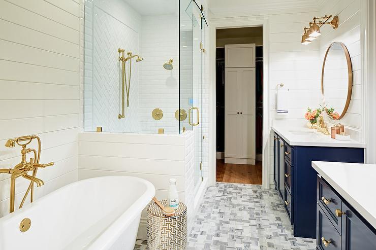 White And Grey Bathroom Contemporary Bathroom
