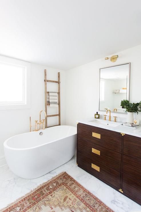 Brown And Gold Bathroom Design Transitional Bathroom