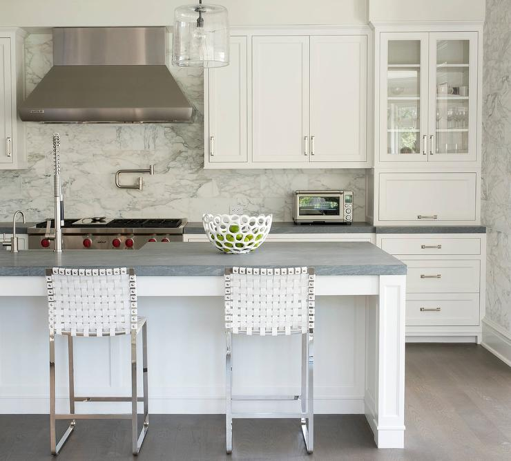 Grey Granite Slabs : Honed gray granite countertops transitional kitchen