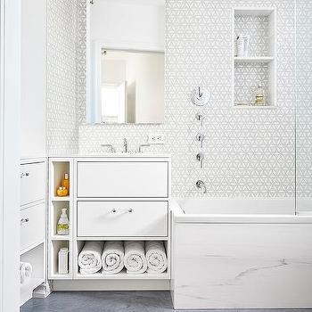 Marble Shower Ceiling Transitional Bathroom Scott