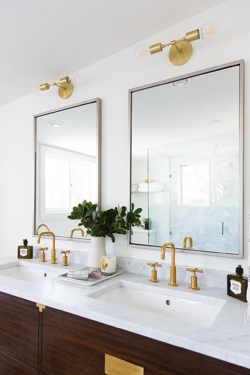 Bathroom Vanity Lights Restoration Hardware restoration hardware campaign vanity - transitional - bathroom