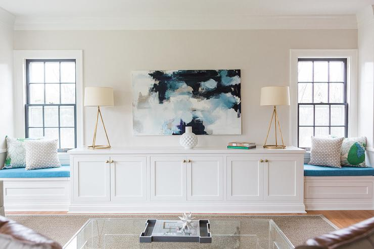 Awesome Navy Blue And Aqua Abstract Art