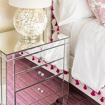 Pink Bedroom With Hot Tel Bedding