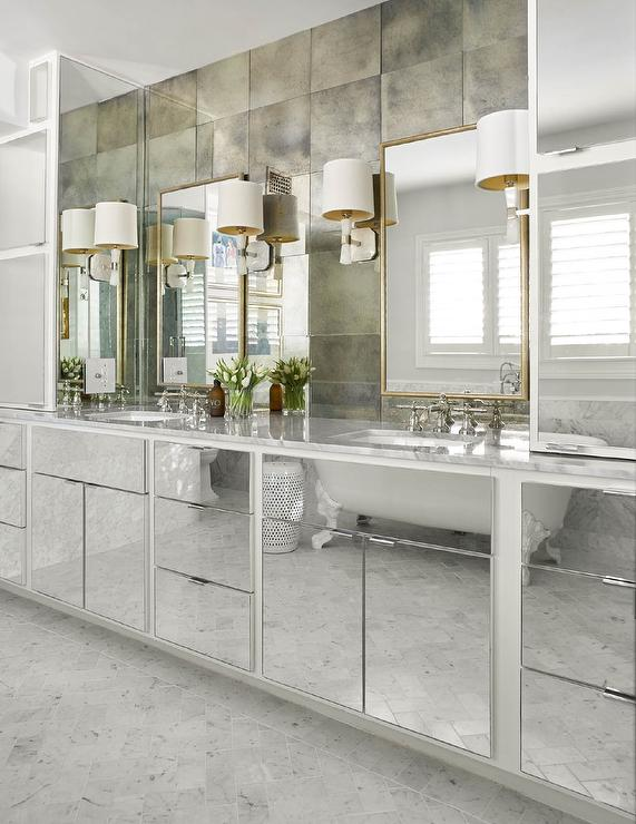 Ordinaire Washstand With Mirrored Cabinet Doors