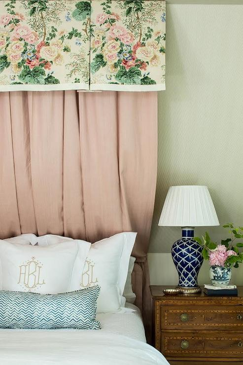 Pink And Navy Blue Girl Bedroom With Pink And Blue