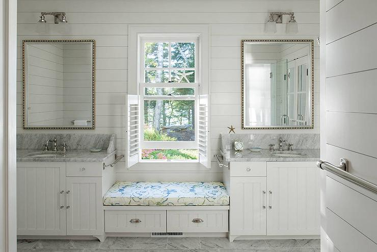 bathroom white cafe shutters design ideas