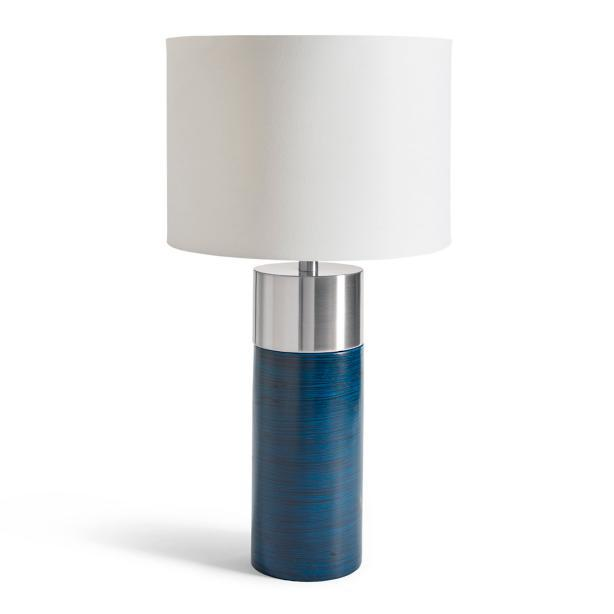 Glint cylinder blue steel table lamp aloadofball Images