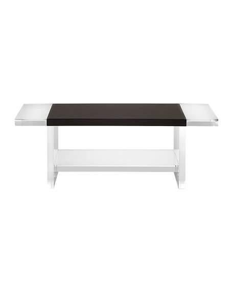 Waldo Brown Lucite Coffee Table