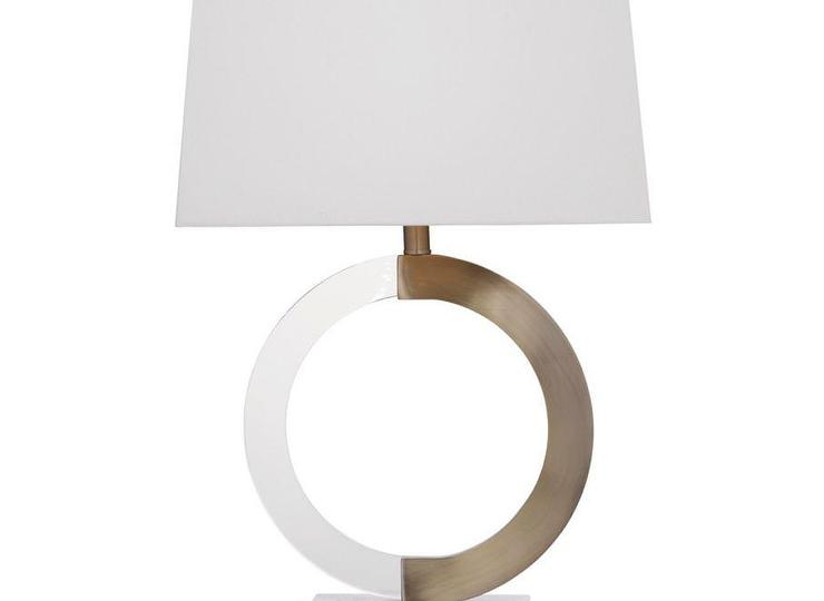 White circle metal table lamp albion white circle metal table lamp aloadofball Image collections