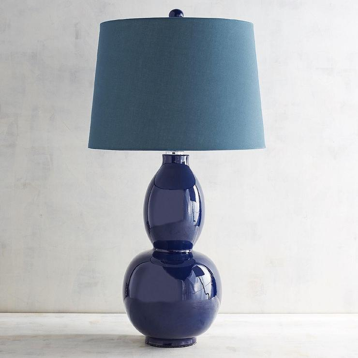 Primavera Navy Blue Table Lamp