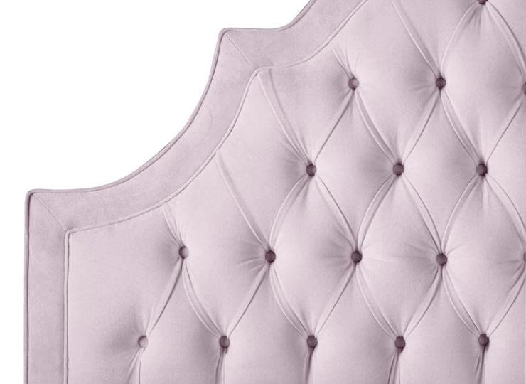 Adler Lavender Tufted Arched Headboard