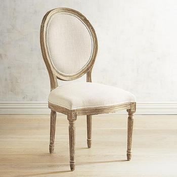M Pier 1 Imports Eliane Collection Flax Dining Chair