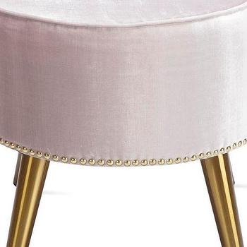 Phenomenal Metallic Gold Played Legs Ottoman Products Bookmarks Gmtry Best Dining Table And Chair Ideas Images Gmtryco