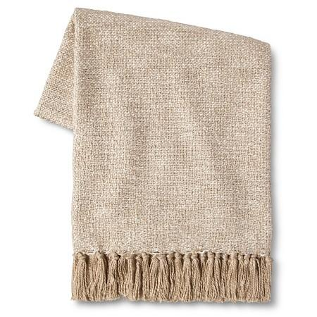 Nate Berkus Woven Knit Gold Throw