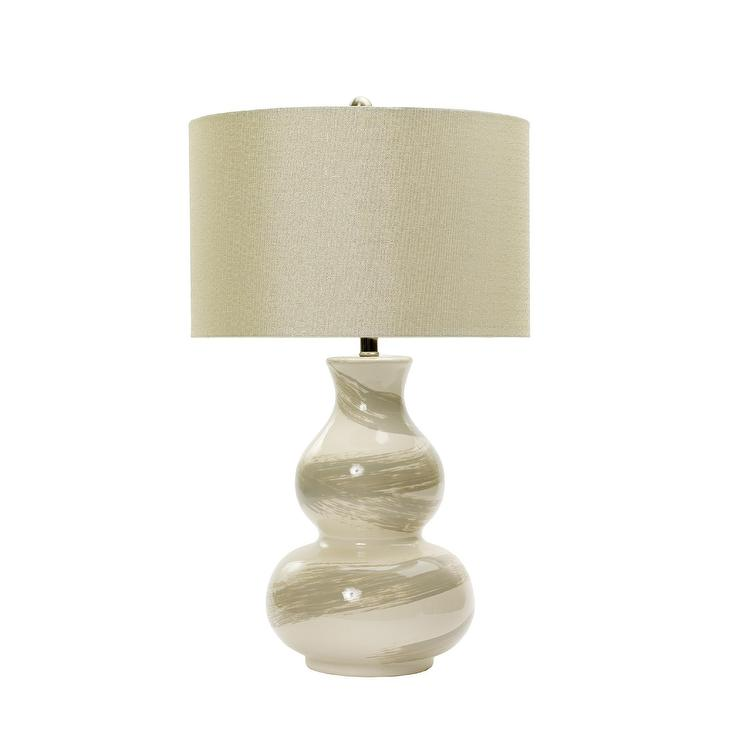 Swirl Ceramic White Table Lamp