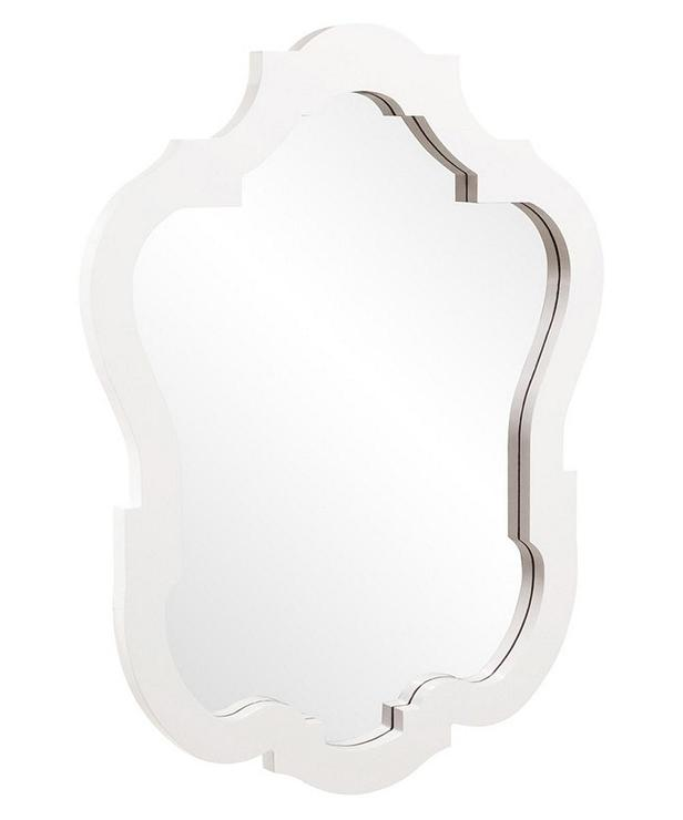Antique White Traditional Rectangular Wall Mirror