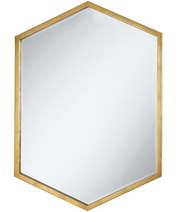 Coaster gold hexagon wall mirror Odd shaped mirrors