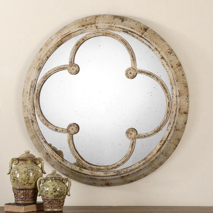Unique Uttermost Livianus Round Metal Mirror DN21