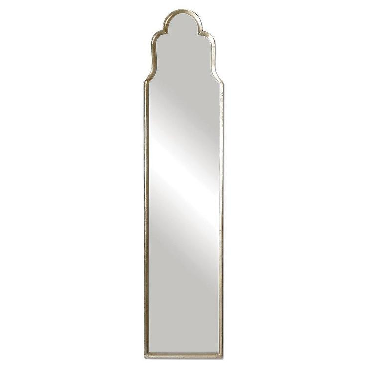 Pipe Standing Mirror in White