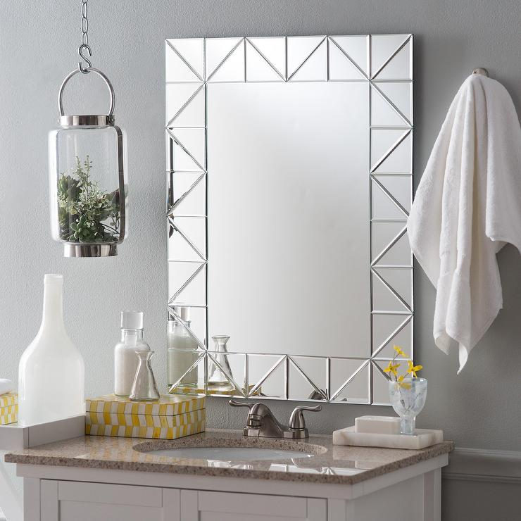 miami modern bathroom mirror - Modern Bathroom Mirrors