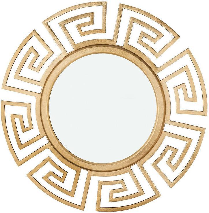pylos grecian gold wall mirror