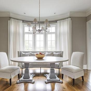 Curved Dining Room Walls Design Ideas