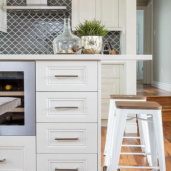 Island With Built In Wine Rack Eclectic Kitchen
