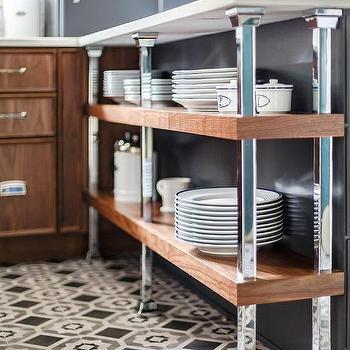 Gray And Black Mosaic Kitchen Floor Tiles Design Ideas