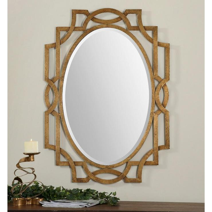 uttermost margutta gold oval mirror view full size - Uttermost Mirrors