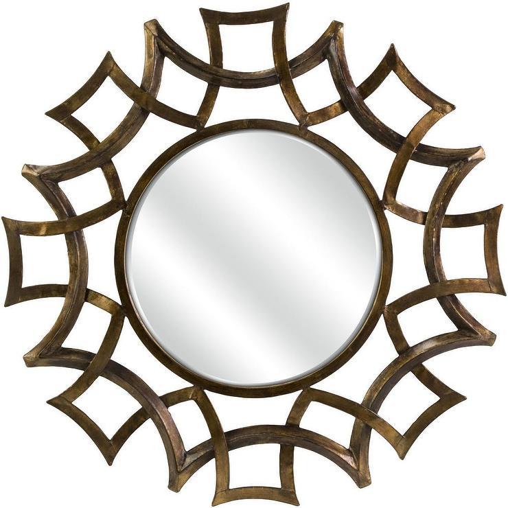 Bronze Wall Mirror round bronze wall mirror