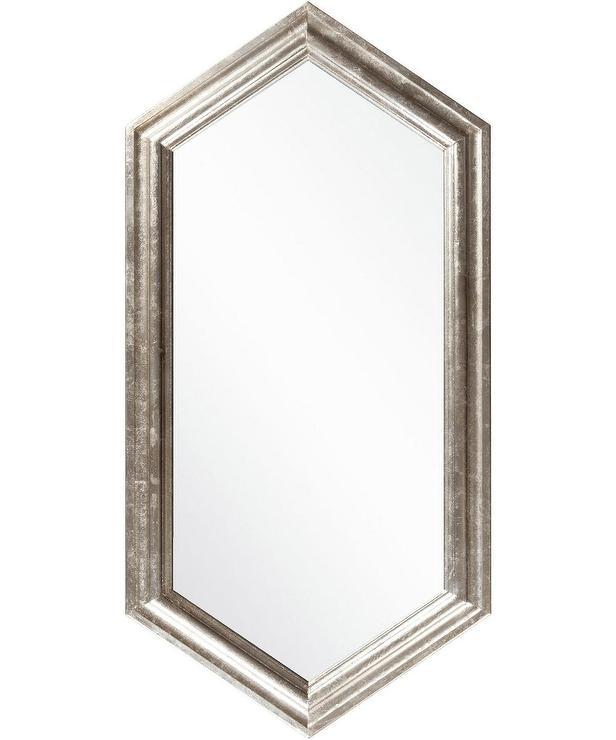Fontaine Champagne Border Hexagon Mirror