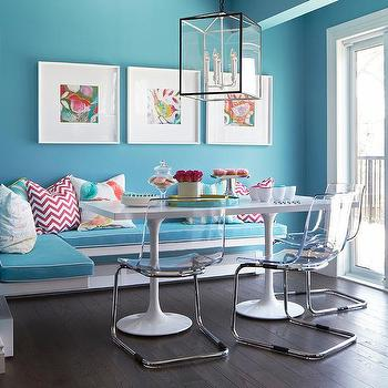 Blue Breakfast Nook With Floating Bench Part 79