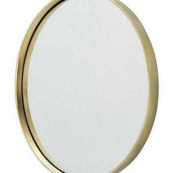 Infinity Brass Oval Wall Mirror