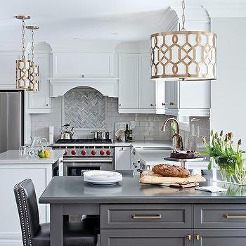 Gold Trellis Kitchen Pendant Lights Design Ideas - Gold kitchen pendants