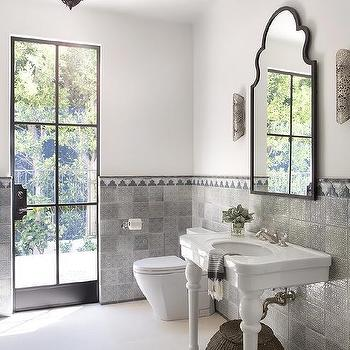 Gray Moroccan Bathroom Tiles Design Ideas