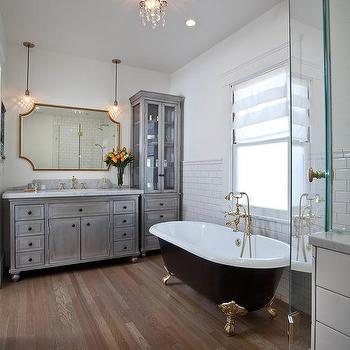 Zinc Bathroom Vanity bathroom vanity with zinc countertop - cottage - bathroom