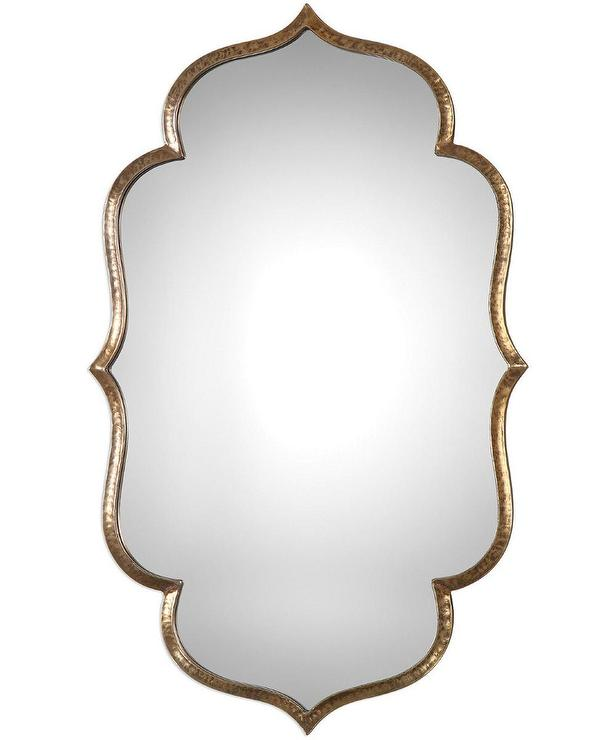Super Uttermost Zina Quatrefoil Gold Wall Mirror OX94