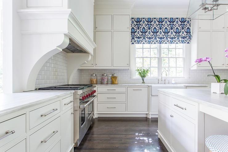 Roman Shade Above Kitchen Sink