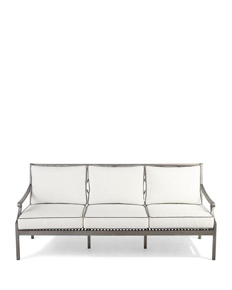 Pleasant Charlotte White Gray Outdoor Sofa Onthecornerstone Fun Painted Chair Ideas Images Onthecornerstoneorg