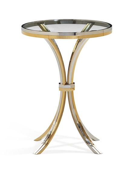 Cain Glass Round Side Table
