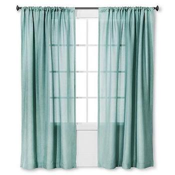 Threshold Metallic Trellis Curtain Panel In White
