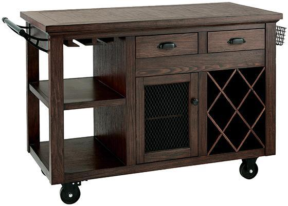 Cooper Kitchen Wood Rolling Cart