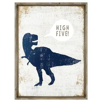 Blue Dino Duvet Cover