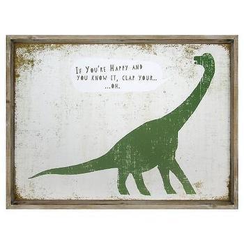 If Youre Happy Dinosaur Framed Art