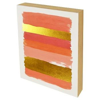 Pink Gold Stripe Canvas Art Products Bookmarks Design Inspiration And Ideas